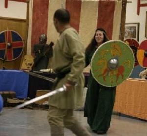 Sword fighting at Viking Festival