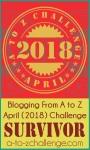 A to Z Survivor Badge
